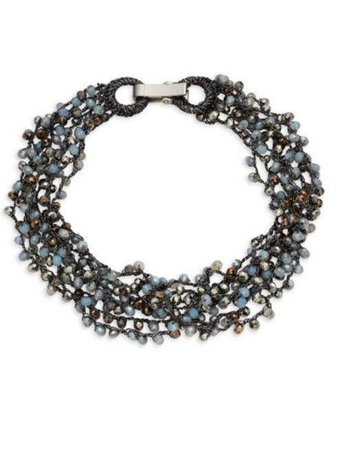 Saks Fifth Avenue Beaded Collar Necklace | Hermosaz