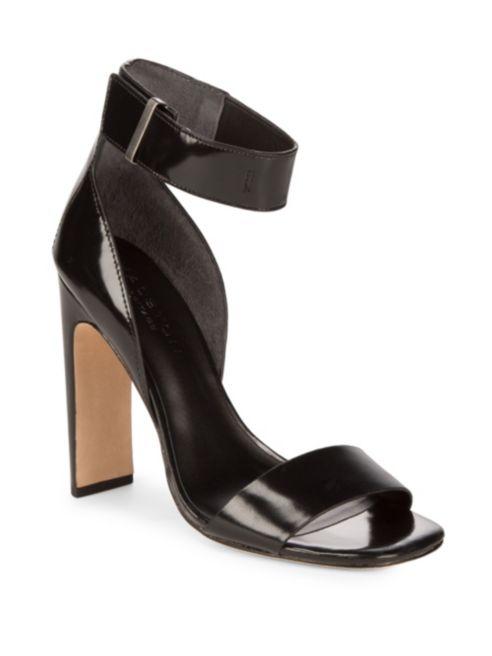 Halston Heritage Open Toe Leather Sandals | Hermosaz