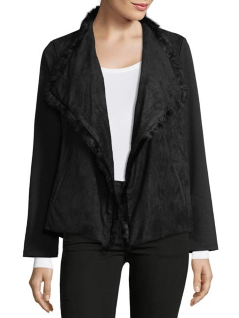 Supply & Demand Lola Faux Fur Foldover Jacket | Hermosaz