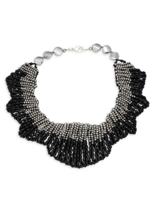Saks Fifth Avenue Two-Tone Faceted Collar Necklace | Hermosaz