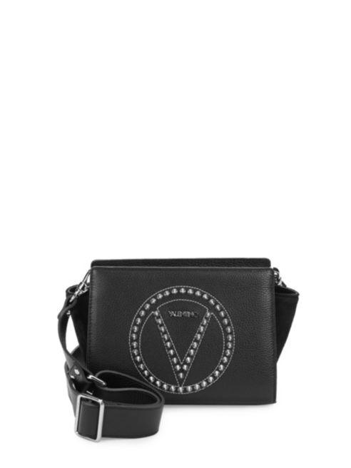 Valentino By Mario Valentino Kiki Pebbled Leather Stud Crossbody Bag | Hermosaz