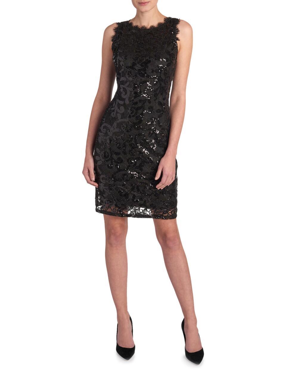 Marina Sequin Lace Sheath Dress | Hermosaz