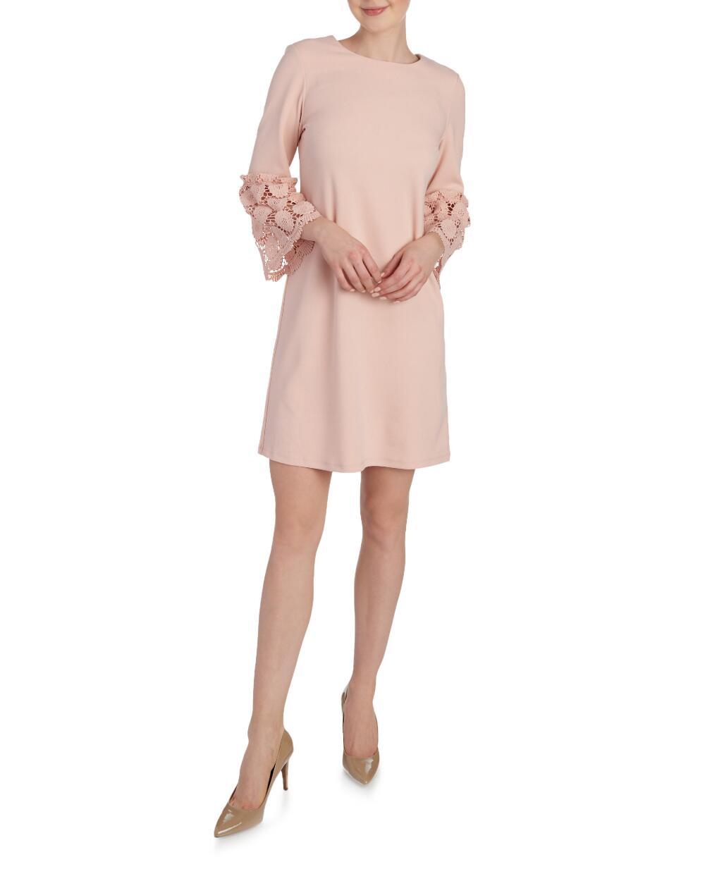 RONNI NICOLE Crochet Bell Sleeve Knit Shift Dress | Hermosaz