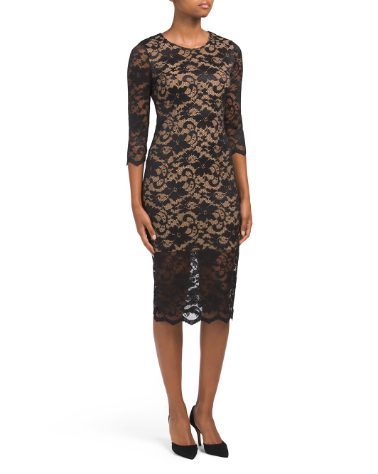 ABS COLLECTION Long Sleeve Lace Dress | Hermosaz