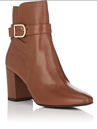Buckle-Strap Leather Ankle Boots | Hermosaz