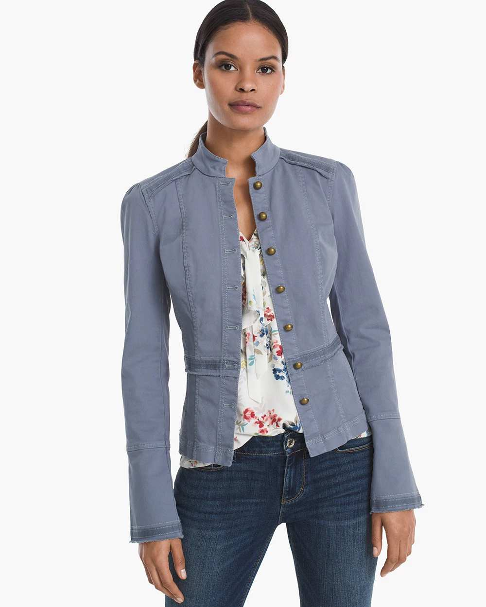 BUTTON-FRONT JACKET | Hermosaz