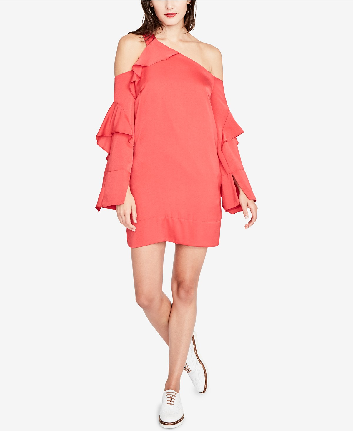 Ruffled One-Shoulder Dress