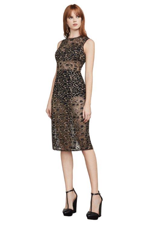 Riley Metallic Leopard Lace Dress