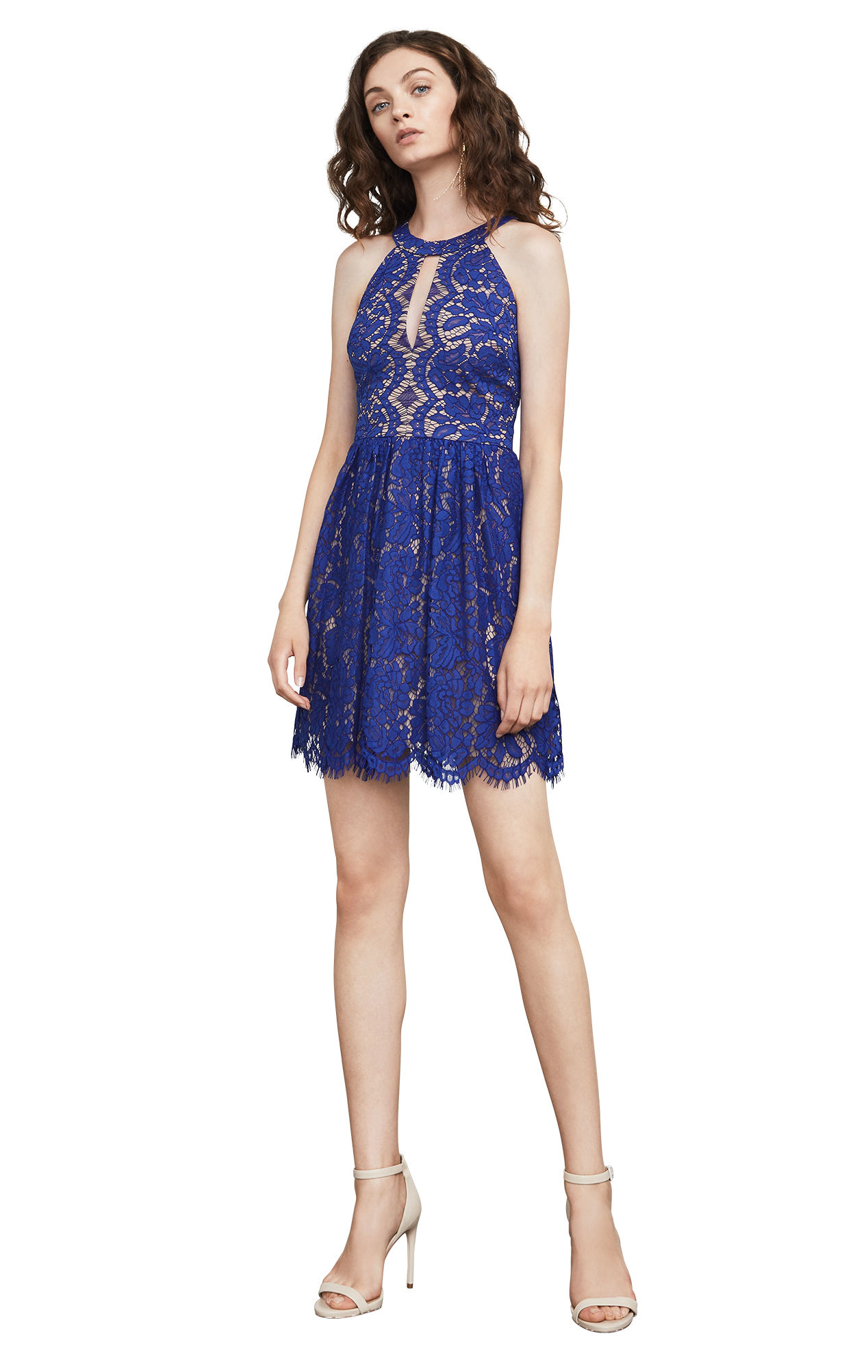 Megyn Lace Halter Dress