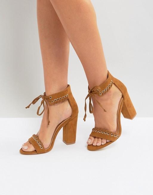 Boohoo Whipstitch Heeled Sandal