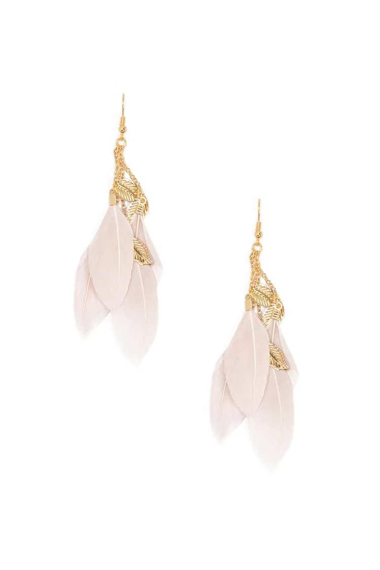 Feather Drop Earrings | Hermosaz