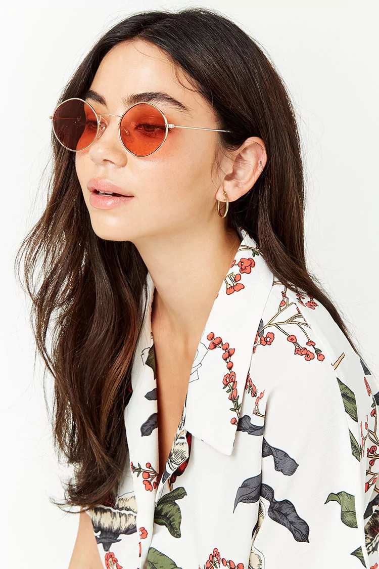 Tinted Oval Sunglasses | Hermosaz