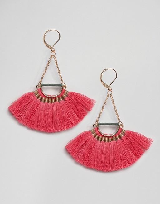 Pieces Fringe Drop Earrings | Hermosaz