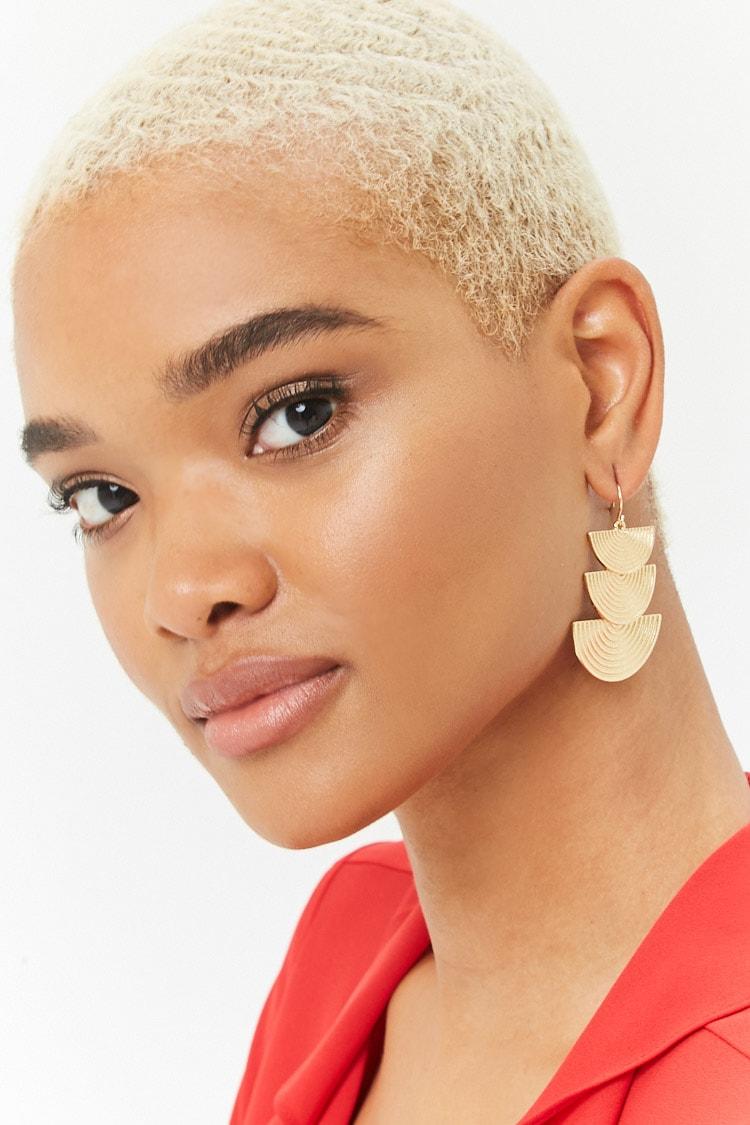 Tiered Geo Drop Earrings | Hermosaz