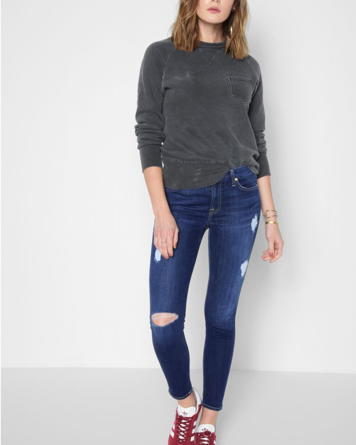 b(air) Denim Ankle Skinny with Destroy in Duchess