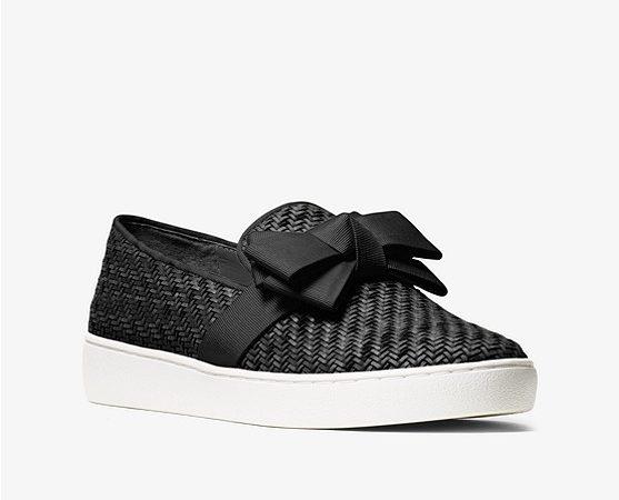 Val Woven Bow Slip-On Sneaker