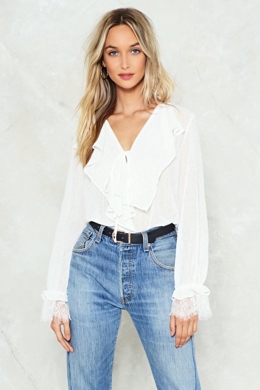 More Haste Ruffle Top