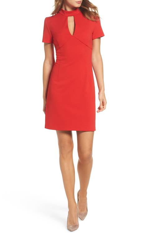 Camari Choker Collar Sheath Dress