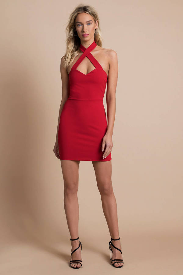 SO MUCH SASS RED BODYCON DRESS