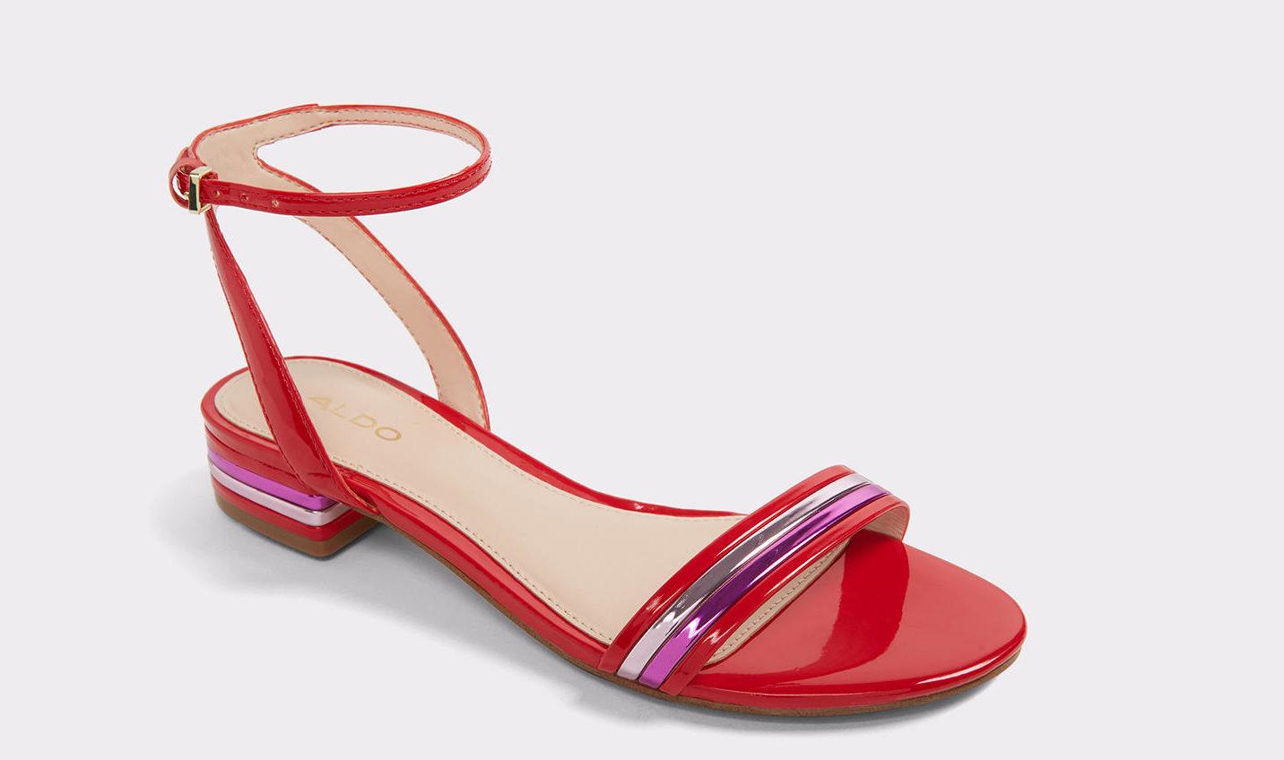 Ozzie Red Women's Block Heels