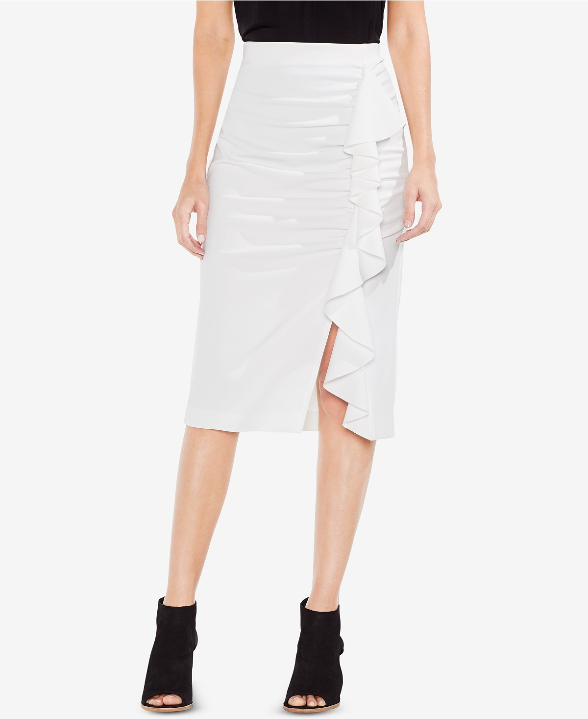 Vince Camuto Ruffled Pencil Skirt
