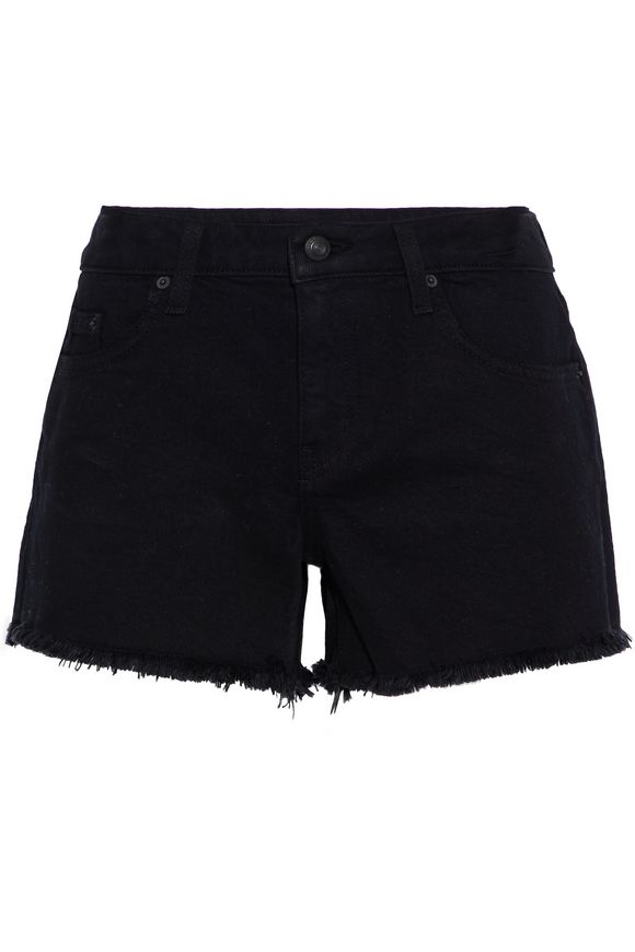Quinn frayed denim shorts