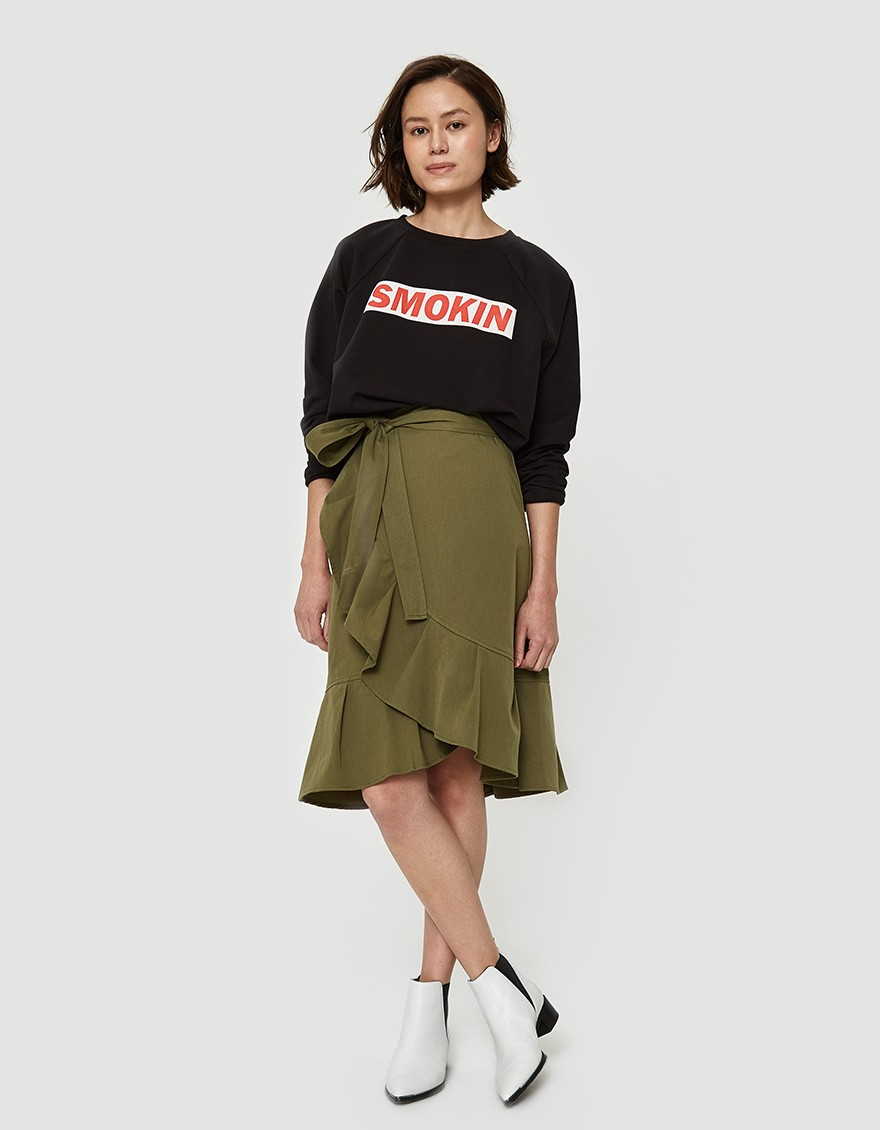 Farrow Lanka Skirt In Olive