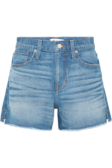 The Vintage Perfect frayed denim shorts