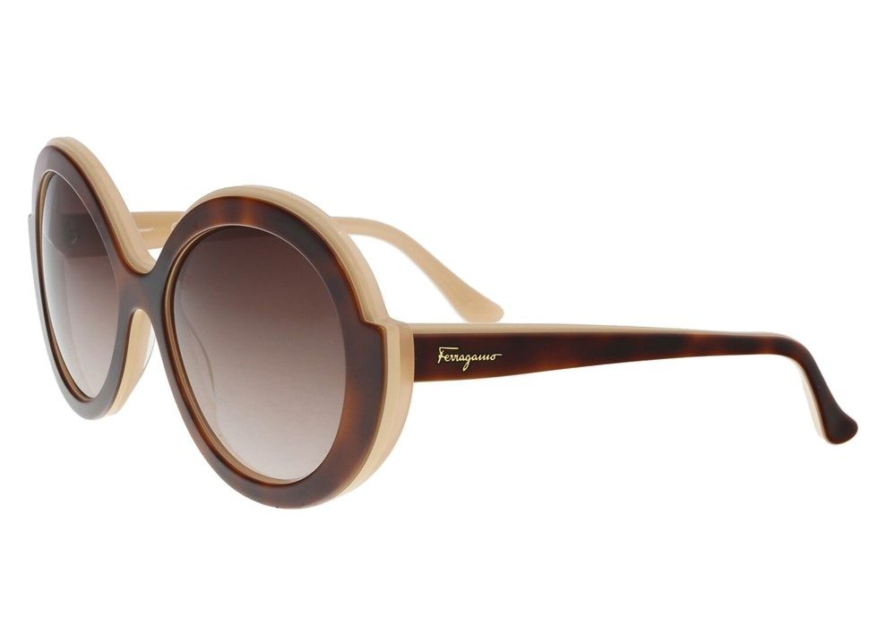 Havana Rose Round Sunglasses