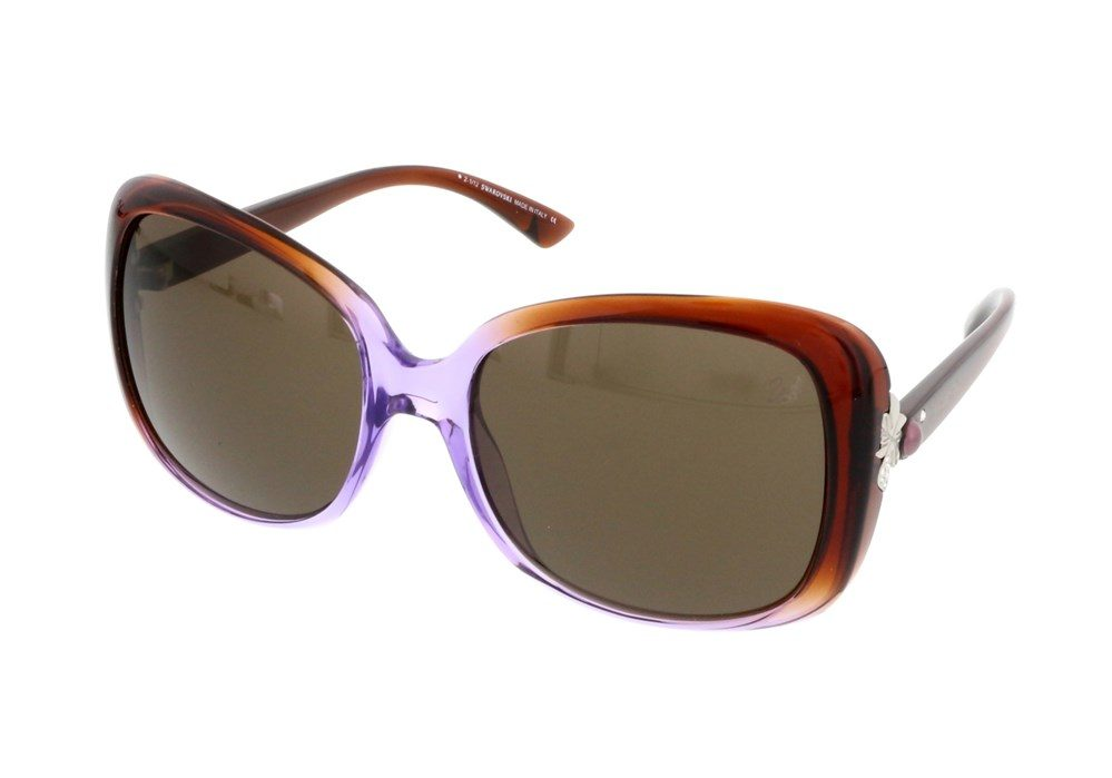 Havana/Purple Gradient Square Sunglasses