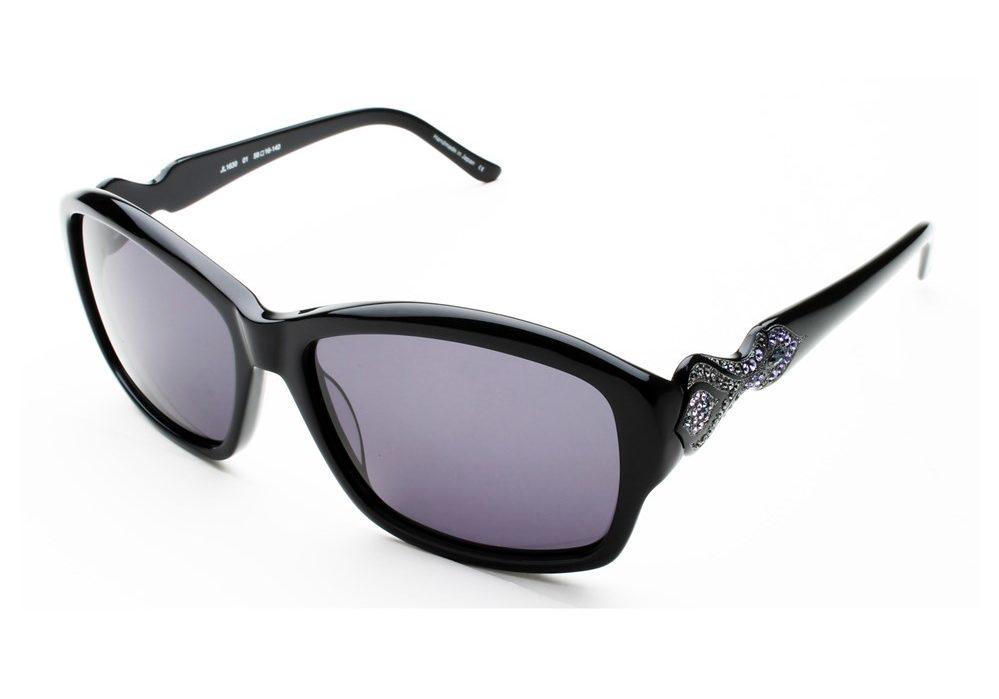 Judith Leiber Women's Persia Sunglasses Onyx