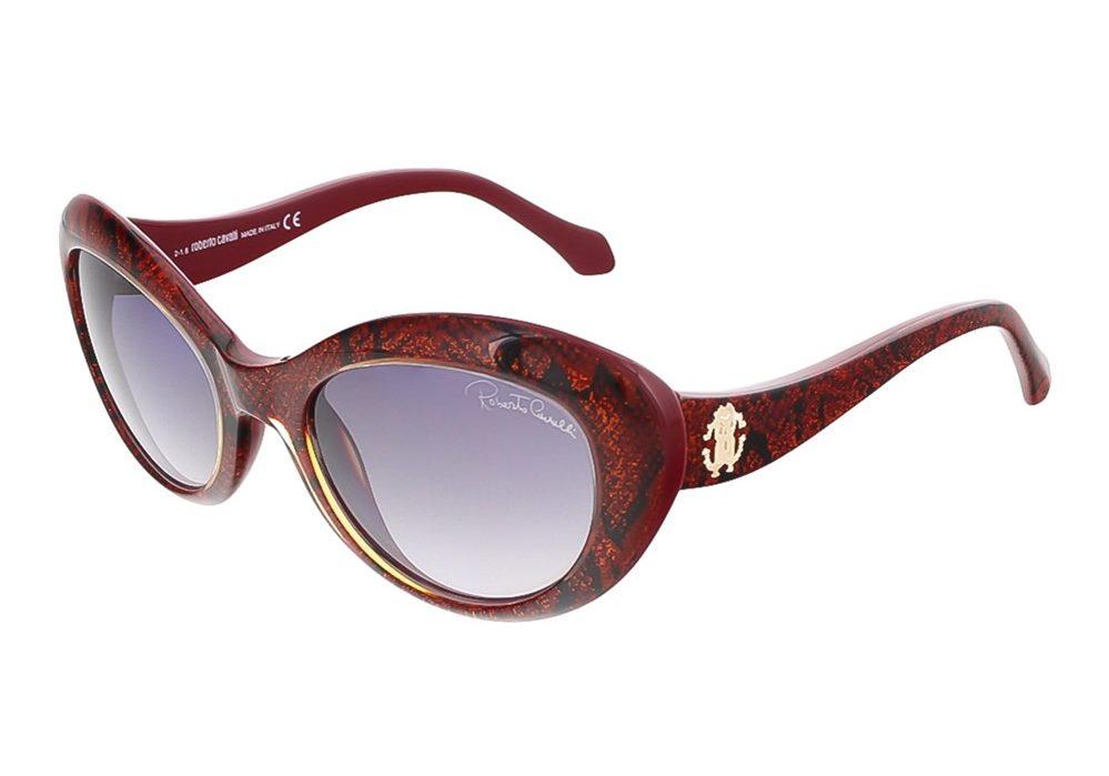 Alshat Glitter Red Cateye Sunglasses