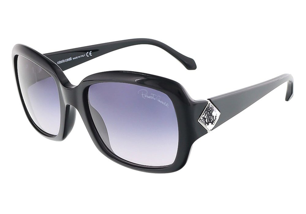 Maia Shiny Black Square Sunglasses