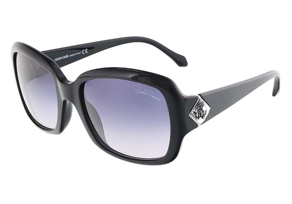 Maia Shiny Black Square Sunglasses