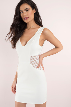 JACLYN WHITE BODYCON DRESS