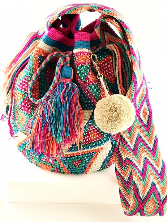 Wayuu Bag Crystals Multi