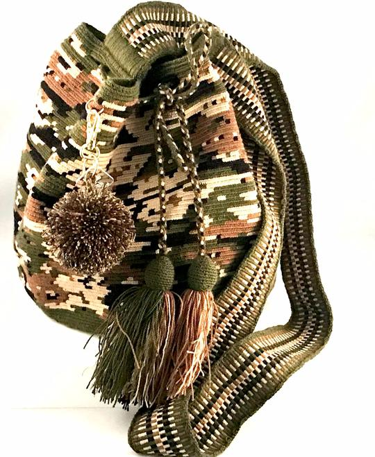 Wayuu Bag Military Green-Orange