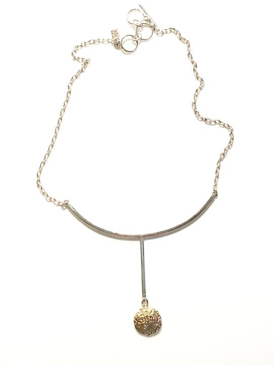 Necklace Gold Plated Circle