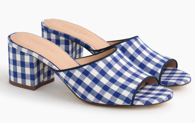 All-day mules (60mm) in gingham