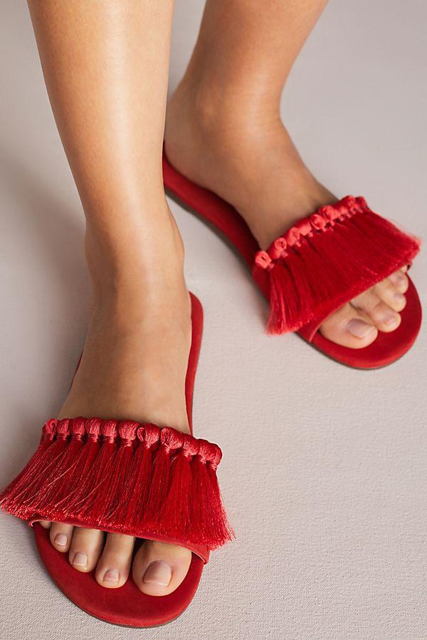 Schutz Maduna Tassel Slide Sandals
