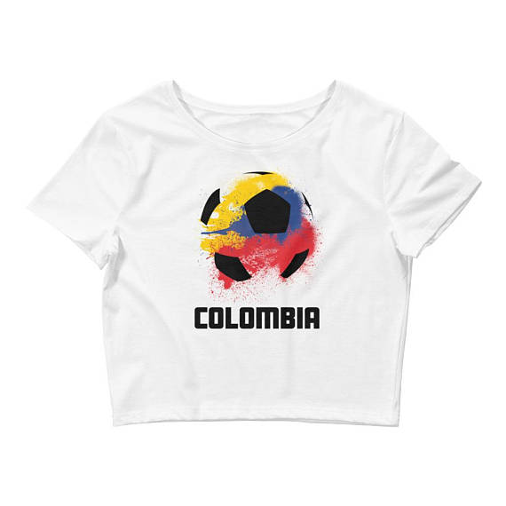 Colombia Flag on Soccer Ball T-shirt