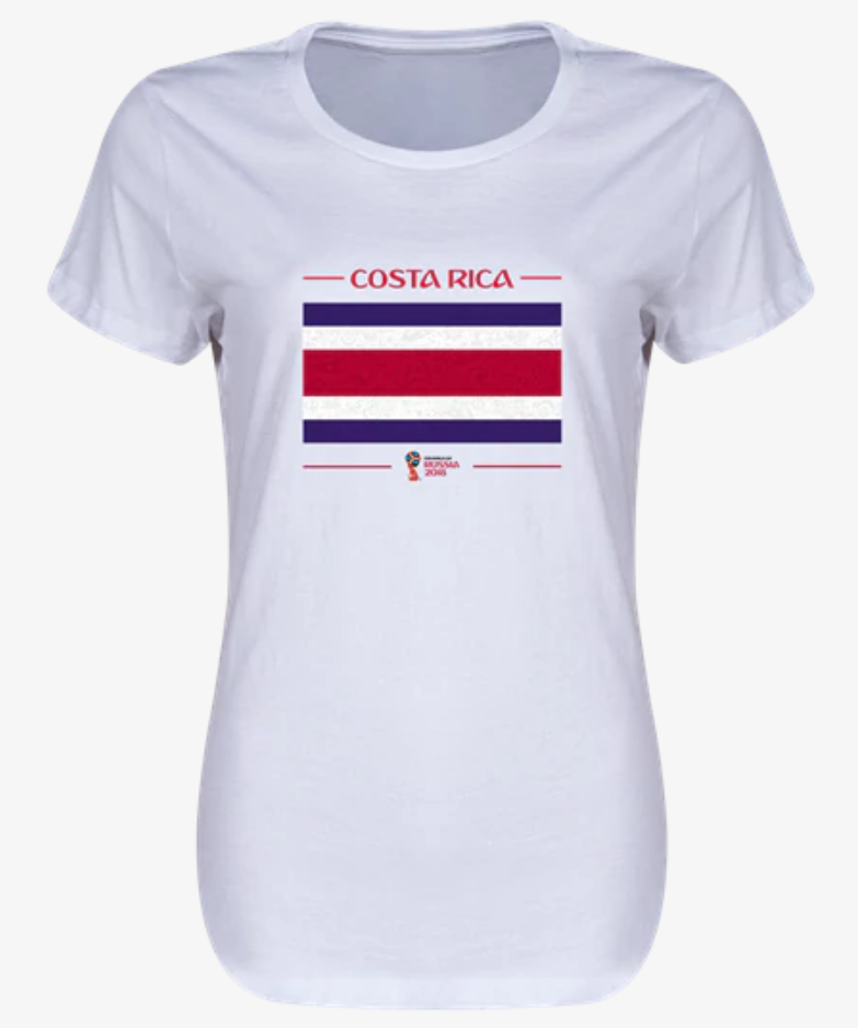 Costa Rica 2018  Flag Women's T-Shirt (White)