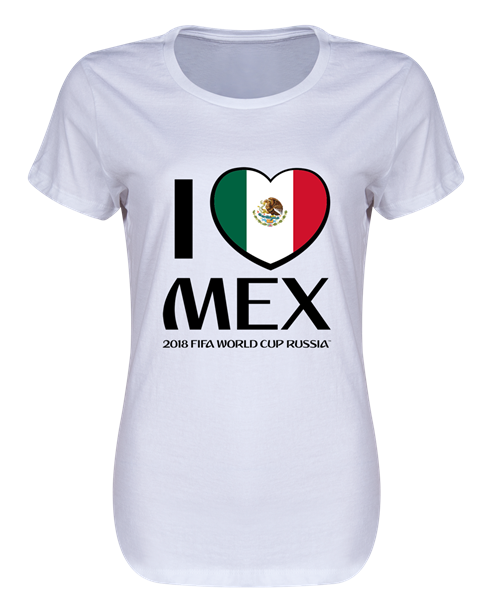 Mexico 2018  I Heart Mexico Women's T-Shirt (White)