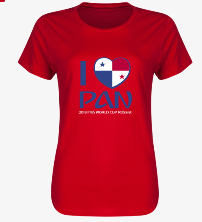 Panama 2018  I Heart Panama Women's T-Shirt (Red)