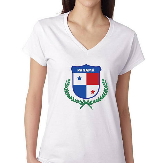 Panama T shirts Women's V neck