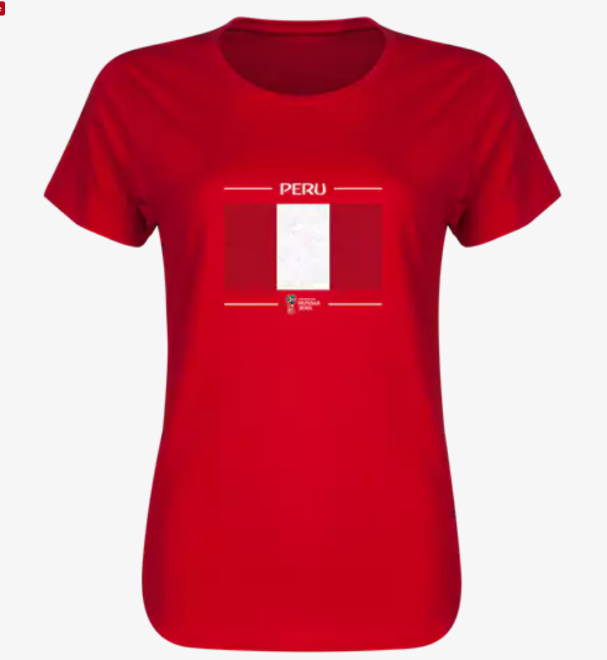 Peru 2018 Flag Women's T-Shirt (Red)