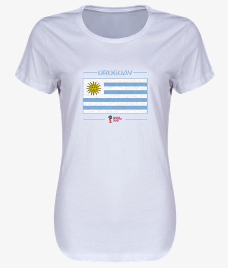 Uruguay 2018 Flag Women's T-Shirt (White)