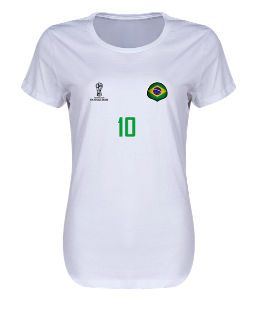 Brazil 2018  Legend Women's T-Shirt (White)
