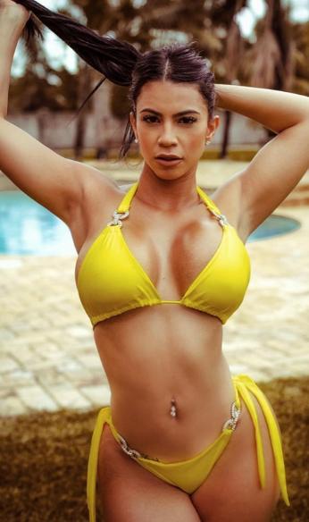 Litza Yanez yellow bikini