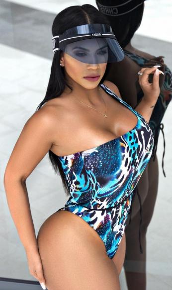Litza Yanez blue bikini